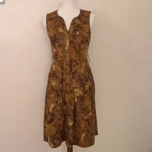 ANTHROPOLOGIE MOULINETTE SOEURS 4 DRESS BRASSICA